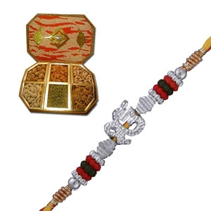 A Beautiful Rakhi with Dry Fruits