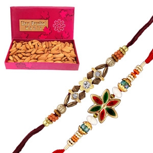 Almonds  with Rakhi