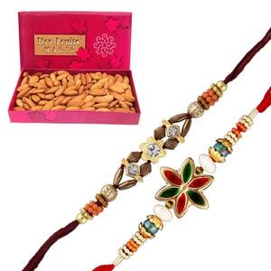 A almonds  with rakhi