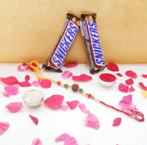 Snickers Rakhi Combo For Brother