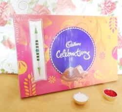 Designer Rakhi & Celebration Combo