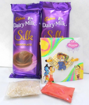 Silk & Kids Rakhi Combo