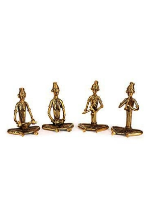 Rajasthani Musician Gold (Bastar / Dokra Art)