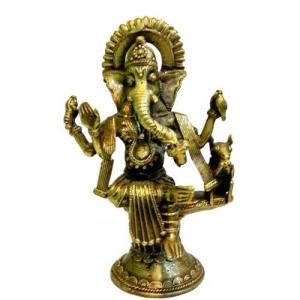 Ganesh Idol - (Dokra Bastar Art)