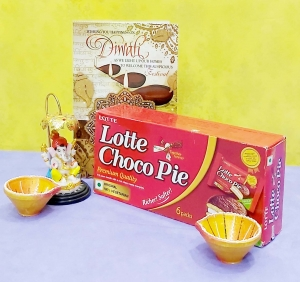 Choco Pie And Diwali Greeting