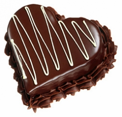 Heart Shaped Choco Cake