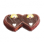 2 Kg Double Heart Choco Cake